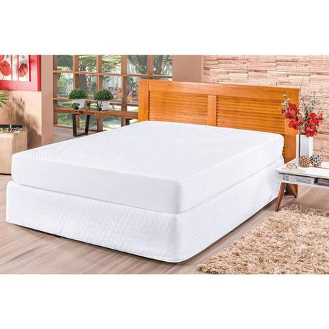 Imagem de Capa para Colchão Impermeável e Saia cama Box Queen Branca