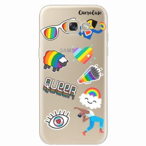 Imagem de Capa para Galaxy A7 2017 Pride Sticker Transparente
