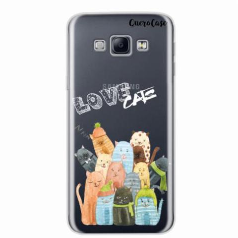 Imagem de Capa para Galaxy A8 Gatos Love Cats