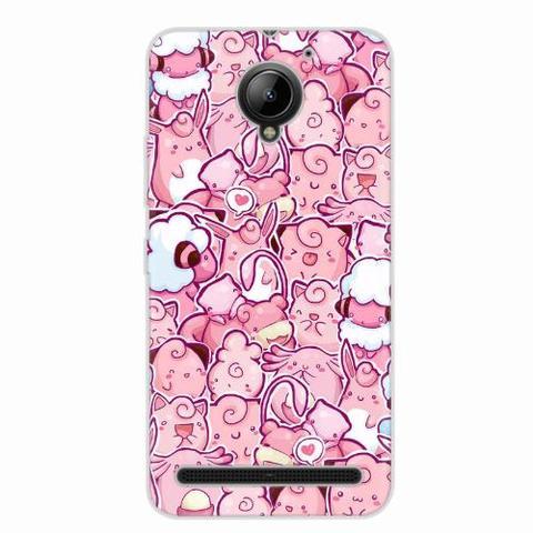 Imagem de Capa para Galaxy A8 Pokemons Rosa