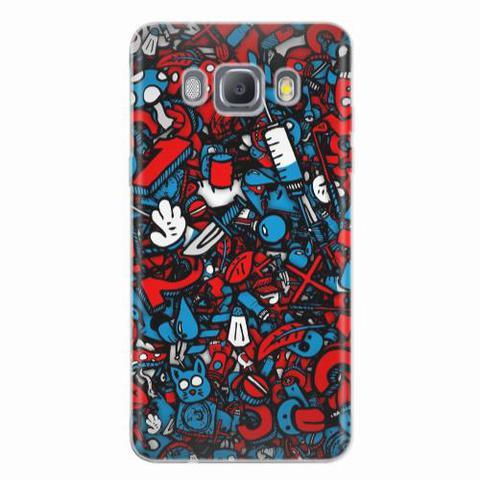 Imagem de Capa para Galaxy J7 Metal Graffiti Azul e Vermelho
