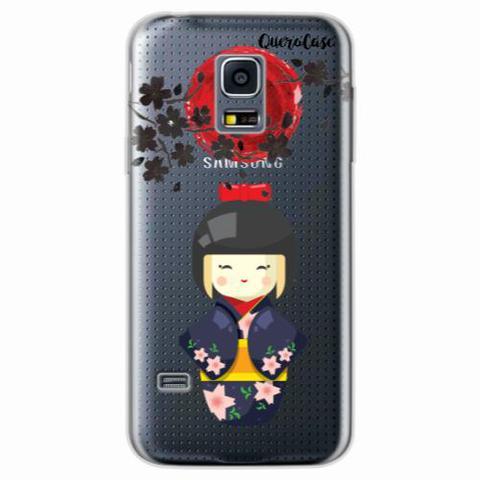 Imagem de Capa para Galaxy S5 Mini Gueixa do Sol Nascente