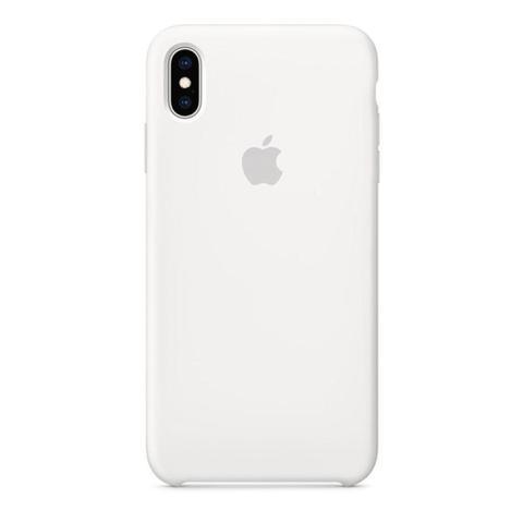 Imagem de Capa Para iPhone XR Em Silicone Aveludado Branco