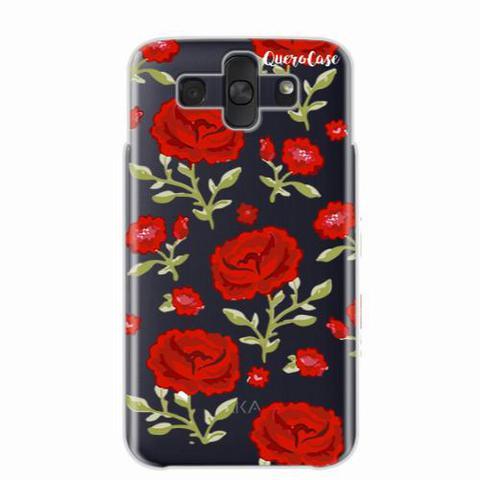 Imagem de Capa para LG Aka Rosas Vermelhas Transparente