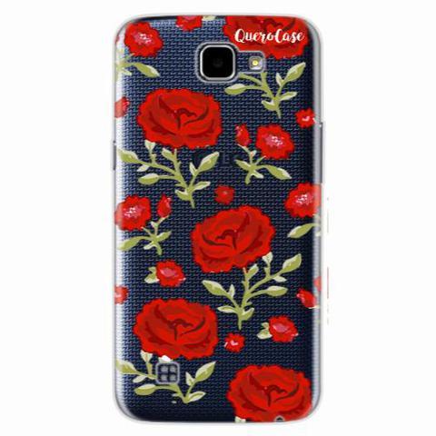 Imagem de Capa para LG L70 Rosas Vermelhas Transparente