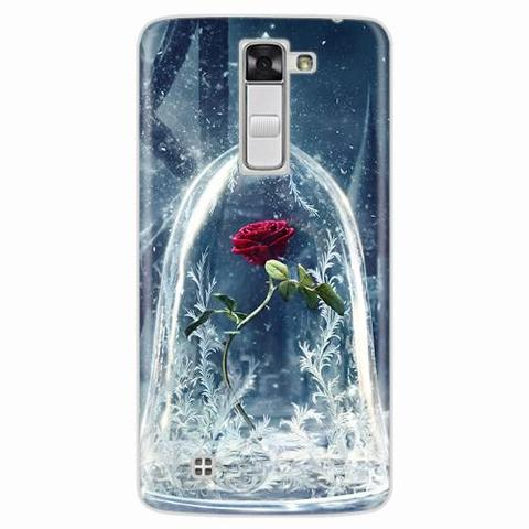 Imagem de Capa para LG L80 Rosa Bela e a Fera