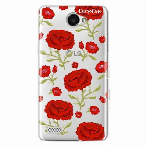 Imagem de Capa para LG Volt Rosas Vermelhas Transparente