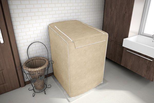 Imagem de Capa para máquina de lavar Eletrolux, Brastemp, Consul 7, 8 e 9 KG Bege
