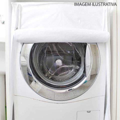 Imagem de Capa para maquina de lavar frontal flanelada 85 x 63 x 73cm