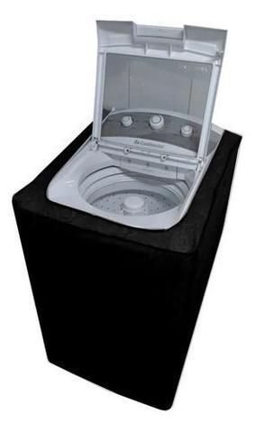Imagem de Capa Para Maquina De Lavar p/ Brastemp / Eletrolux / Consul 12kg 15kg 16kg Com Zíper Cor Cinza