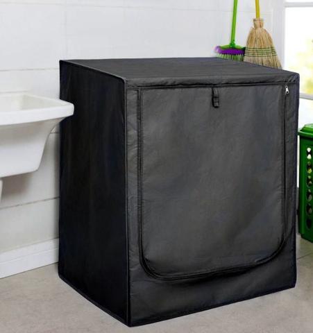 Imagem de Capa para máquina de lavar prática com zíper frontal tamanho g resistente à água - util