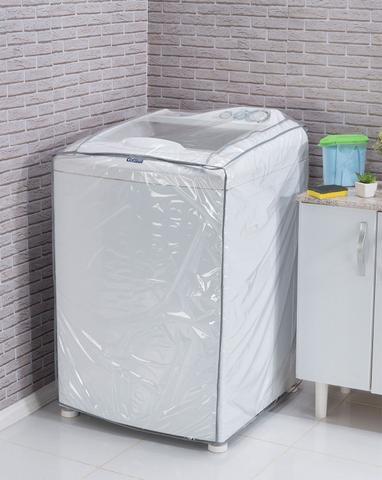 Imagem de Capa para Máquina de Lavar Roupa Transparente M Branco