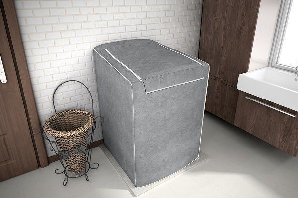 Imagem de Capa para maquina de lavar Tamanho G Cinza