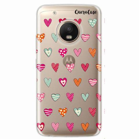 Imagem de Capa para Moto G5 Plus Corações Coloridos