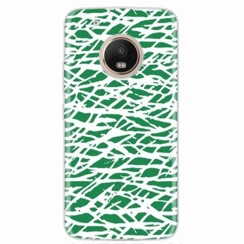 Imagem de Capa para Moto G5 Plus Green Abstract