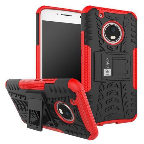 Imagem de Capa Para Moto G5 Plus Tela 5.2 Grip Anti Impacto Vermelha - Up Case