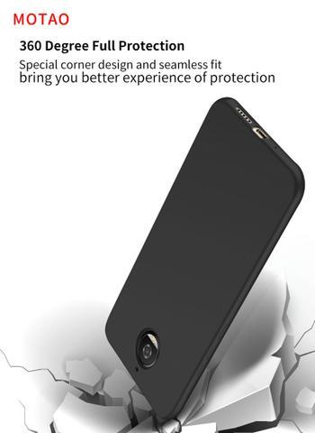 Imagem de Capa Para Moto G6 Plus - Capa Ultra Slim Preto Fosca