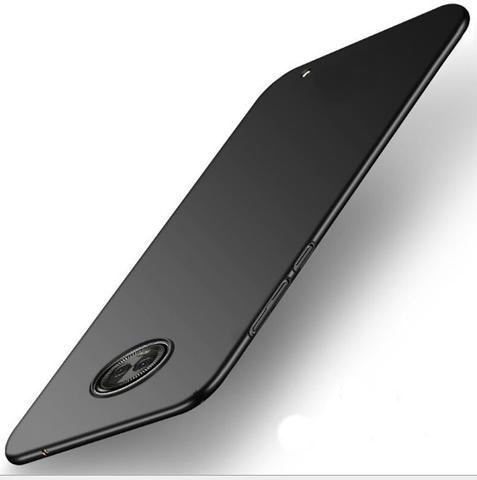 Imagem de Capa Para Moto G6 Plus + Pel. Vidro + Pel Vidro da CÃmera - Capa Ultra Slim Preto Fosco