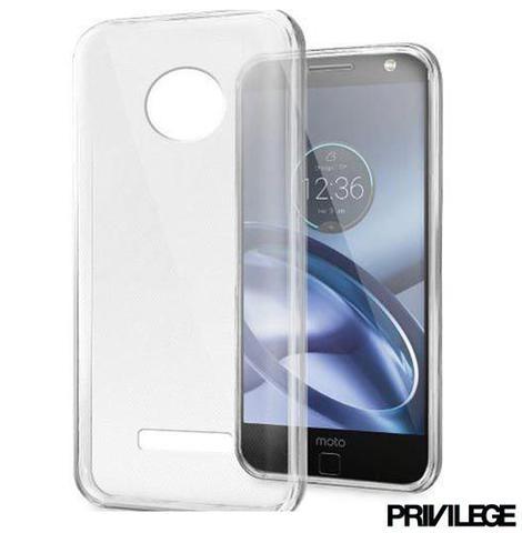 Imagem de Capa para Moto Z com em TPU Transparente - Privilege - PRIVCMZCLR