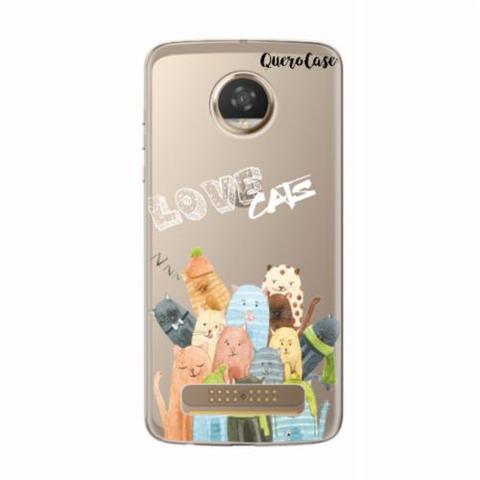 Imagem de Capa para Moto Z2 Play Gatos Love Cats