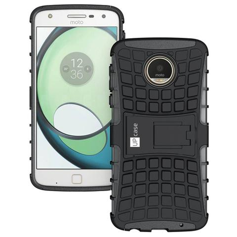 Imagem de Capa para Motorola Moto Z Play Guardian Preta Anti Impacto - Up Case