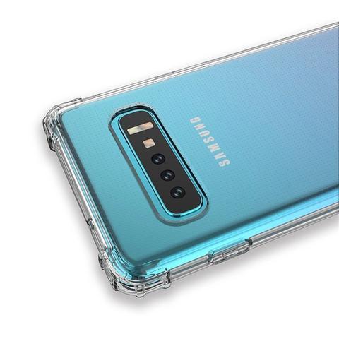 Imagem de Capa Para Samsung Galaxy S10 Plus Anti Impacto Crystal Hybrid - Transparente