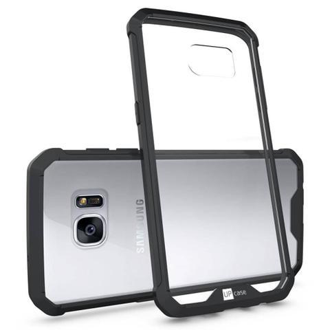 Imagem de Capa Para Samsung Galaxy S7 Edge Air Hybrid Preta Anti Impacto - Up Case