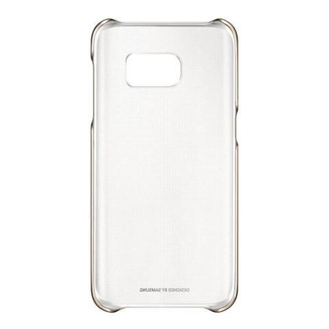 Imagem de Capa para Smartphone Clear Samsung Galaxy S7, Transparente e Dourada