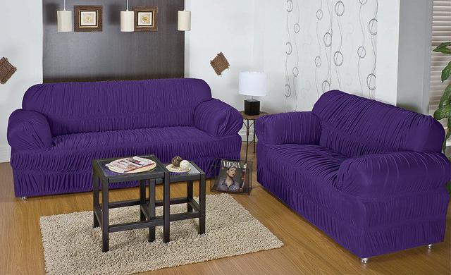 Imagem de Capa para Sofá 02 e 03 lugares Capa para Sofá 21 elásticos  Liso com 2 peças