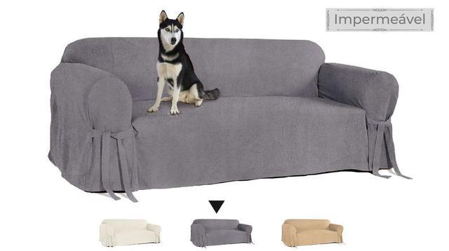 Imagem de Capa para Sofá de 2 lugares em Acquablock Impermeável Protetora Pets Cachorro Gatos Casa Lar Resistente