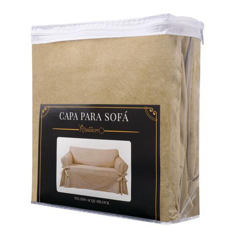 Imagem de Capa para Sofá de 3 Lugares em tecido Acquablock impermeável Resistente Pets Kids Criança Cachorro Sala