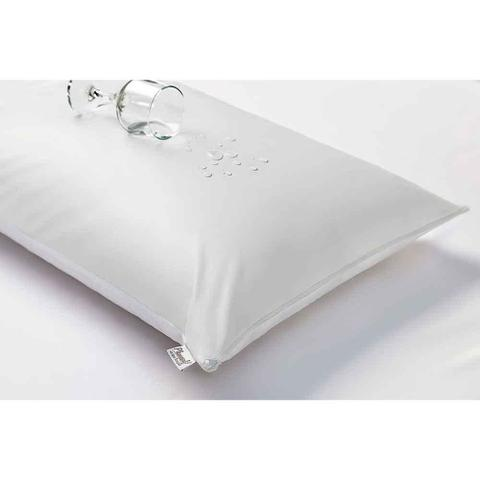 Imagem de Capa para Travesseiro Impermeável 50X70CM Soft Touch com Zíper Branco 300 fios - Plumasul