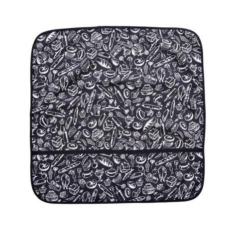 Imagem de Capa para vidro de fogão 4 bocas preto e branco