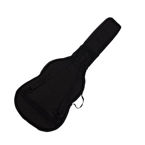Imagem de Capa Para Violão Folk Nylon Luxo Bolso Frontal Preta Harmonics