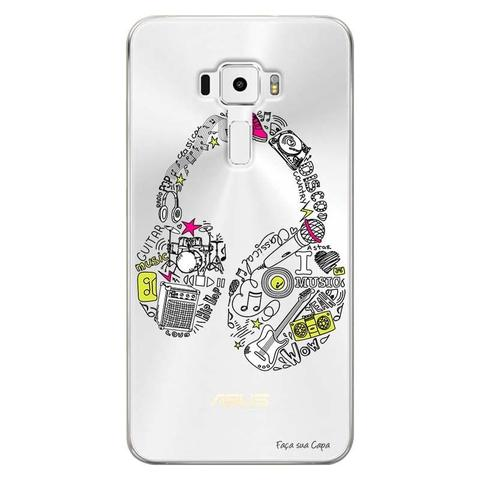 Imagem de Capa Personalizada para Asus Zenfone 3 5.5 ZE552KL Music Fone - TP55