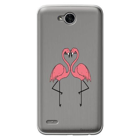 Imagem de Capa Personalizada para LG K10 Power M320TV Casal Flamingos - TP316