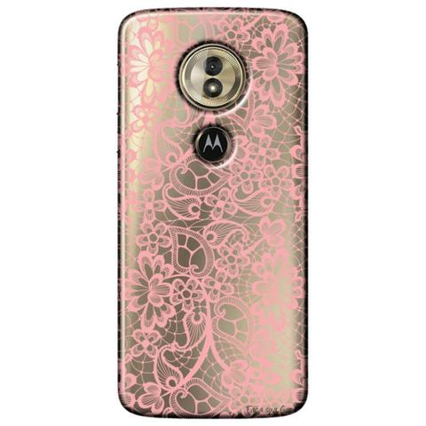 Imagem de Capa Personalizada para Motorola Moto G6 Play - Renda Rosa - TP284