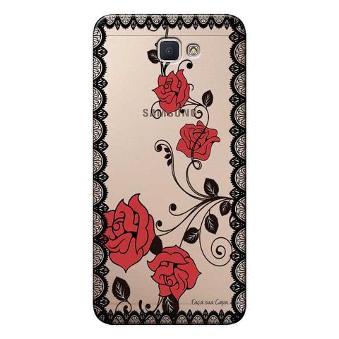 Imagem de Capa Personalizada para Samsung Galaxy j7 Prime Renda com Rosas - TP291