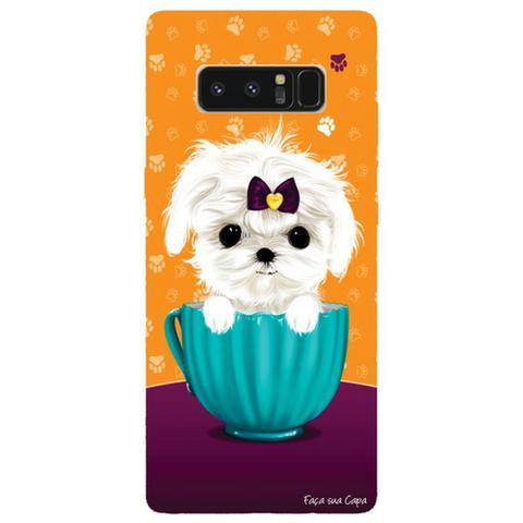 Imagem de Capa Personalizada para Samsung Galaxy Note 8 - Cachorro no Pote - DE03