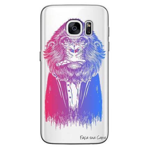 Imagem de Capa Personalizada para Samsung Galaxy S7 Edge G935 Macaco - TP50