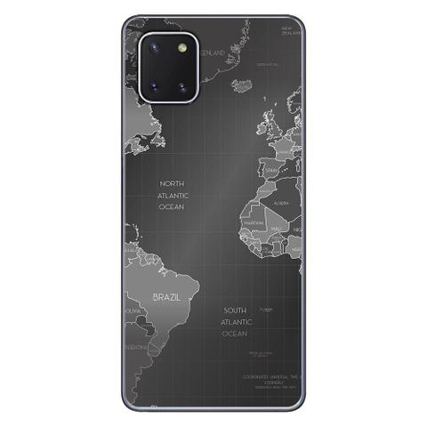 Imagem de Capa Personalizada Samsung Galaxy Note 10 Lite - Mapa Mundi - MC01