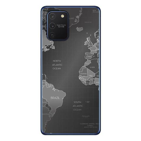 Imagem de Capa Personalizada Samsung Galaxy S10 Lite G770 - Mapa Mundi - MC01