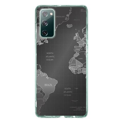 Imagem de Capa Personalizada Samsung Galaxy S20 FE - Mapa Mundi - MC01