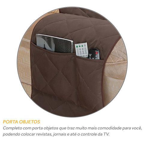 Imagem de Capa Protetor de Poltrona 1 Lugar Matelado com Porta Objetos