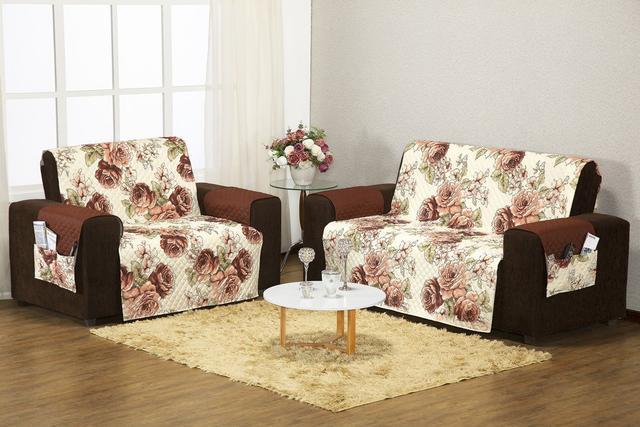 Imagem de Capa Protetor De Sofa Estampado 3 E 2 Lugares