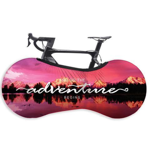 Imagem de Capa Protetora Cobrir Rodas Bicicleta Bike Estampada Indoor Adventure