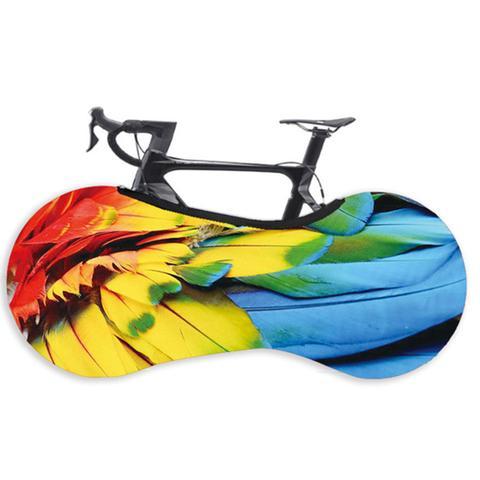Imagem de Capa Protetora Cobrir Rodas Bicicleta Bike Estampada Indoor Arara