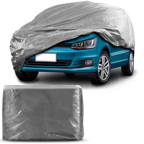 Imagem de Capa Protetora para Cobrir Carro 100 Impermeável com Forro Central e Elástico Tamanho M Cor Cinza