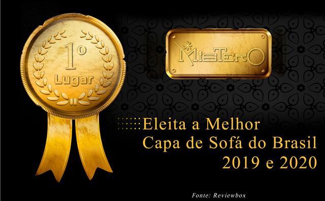 Imagem de Capa Protetora para Sofá de 3 lugares em Brim Sarja 100% Algodão Macia Confortável Protetora