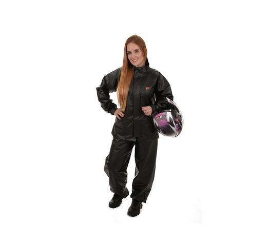Imagem de Capa roupa de chuva motoqueiro motoqueira unissex pvc way pioneira tam g 0079